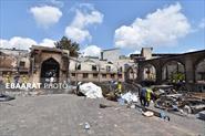 آتش سوزی مسجد جامع ساری+عبارت
