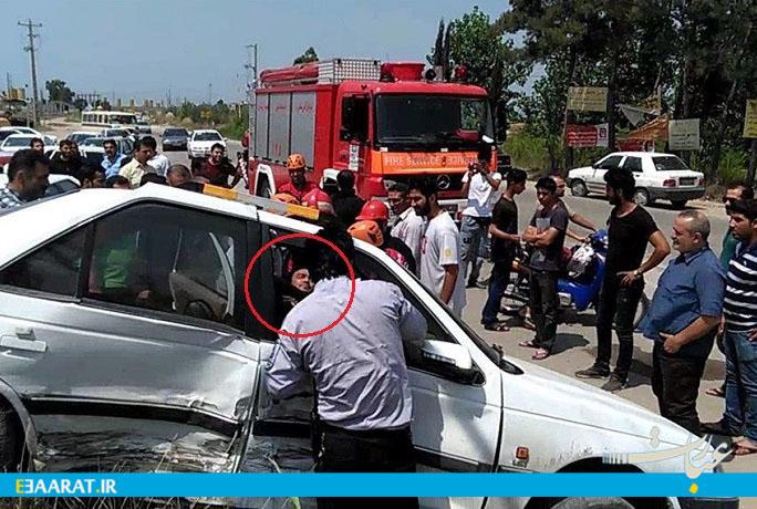تصادف در جاده گلمای ساری- سایت عبارت