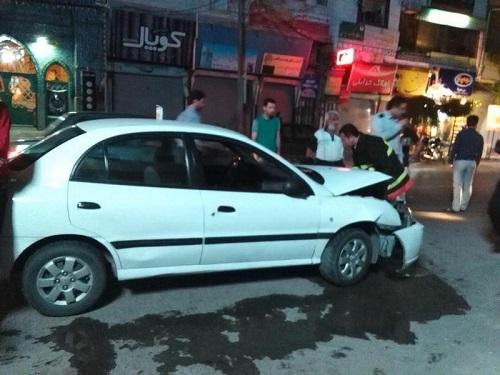 تصادف  ريو  و پژو ۲۰۷  در خیابان معلم ساری - سایت عبارت