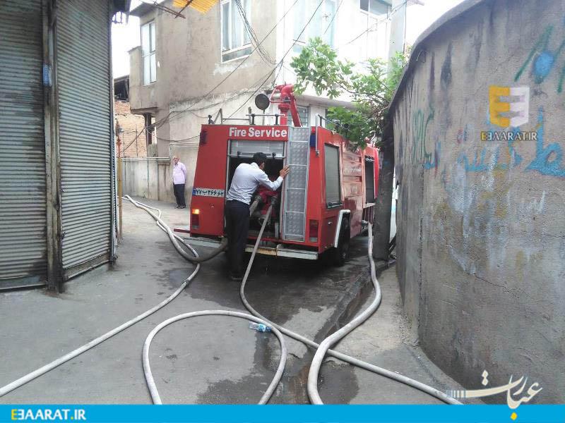 آتش سوزی در کوچه سردار ساری - سایت عبارت