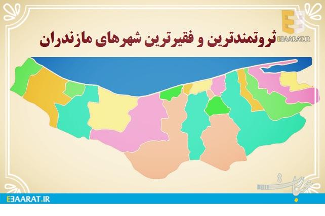 ثروتمندترین و فقیرترین شهرهای مازندران