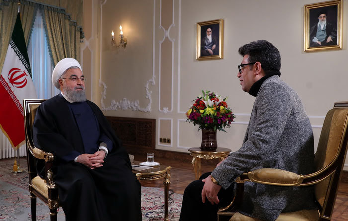 گفتگوی تلویزیونی روحانی+عبارت