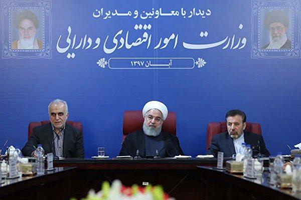 روحانی در جمع مدیران وزارت اقتصاد+عبارت