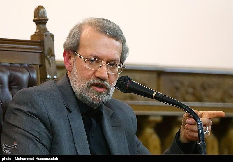 علی لاریجانی+عبارت
