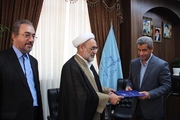 حجت الاسلام اکبری رئیس کل دادگستری استان مازندران + عبارت