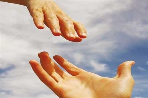 دست کمک امداد یاری  + عبارت