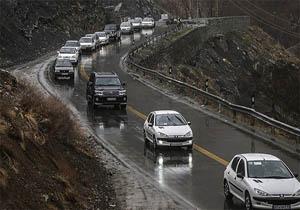 ترافیک در جاده هراز + عبارت
