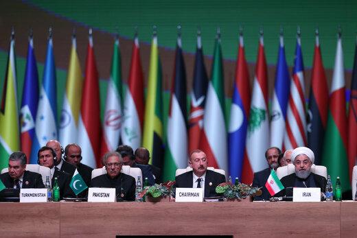 پیامهای چندگانه روحانی به ترامپ /حضور پررنگ ایران در اجلاس باکو + عبارت