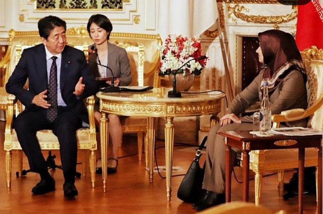 آبه شینزو نخست وزیر ژاپن + عبارت