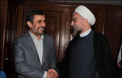 روحانی و احمدی نژاد + عبارت