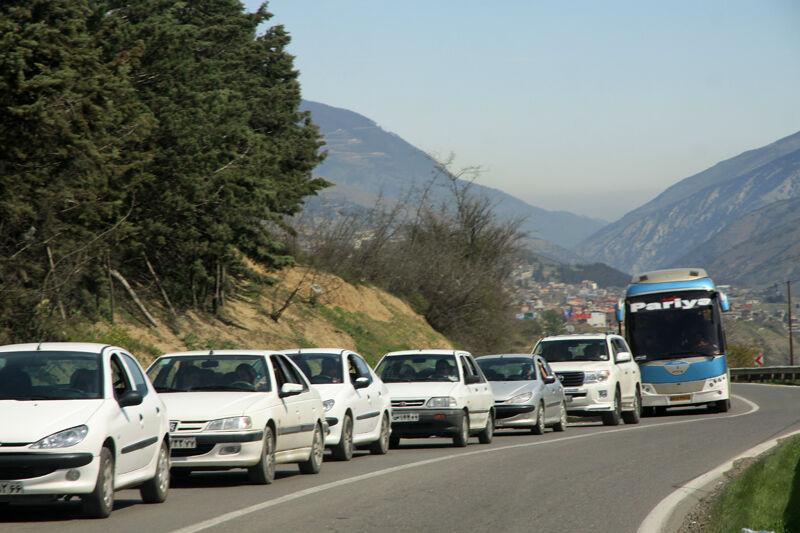 ترافیک جاده کندوان + عبارت