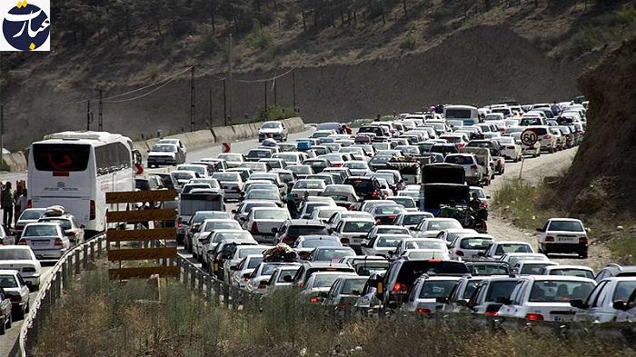 ترافیک جاده هراز+عبارت