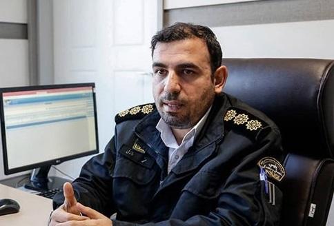 سرهنگ محمد رازقی رئیس مرکز فرماندهی و کنترل هوشمند ترافیک پلیس راهور تهران+عبارت