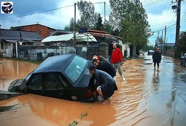 سیلاب در مازندران  + عبارت