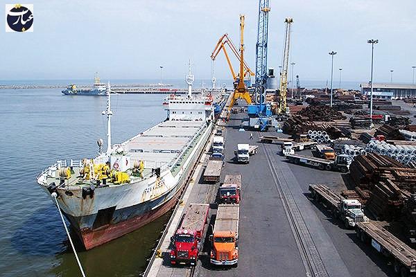 صادرات + عبارت + بندر امیرآباد