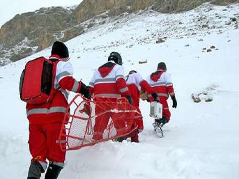 هلال احمر+برف+مازندران