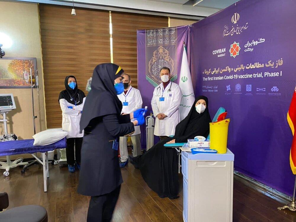 اولین داوطلب دریافت واکسن کرونای ایرانی+عبارت