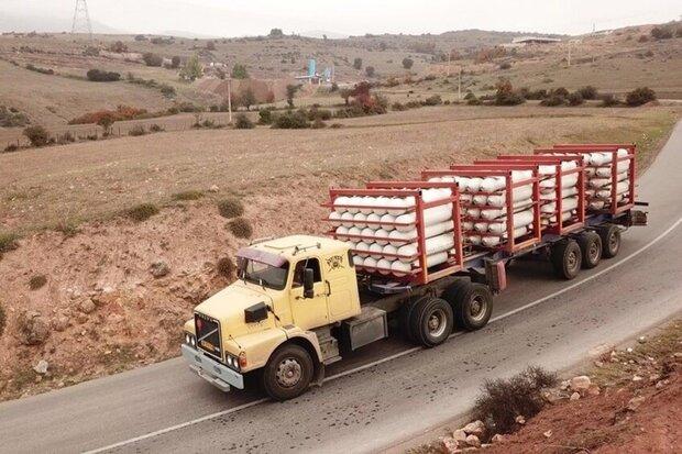 کامیون حمل گاز+عبارت