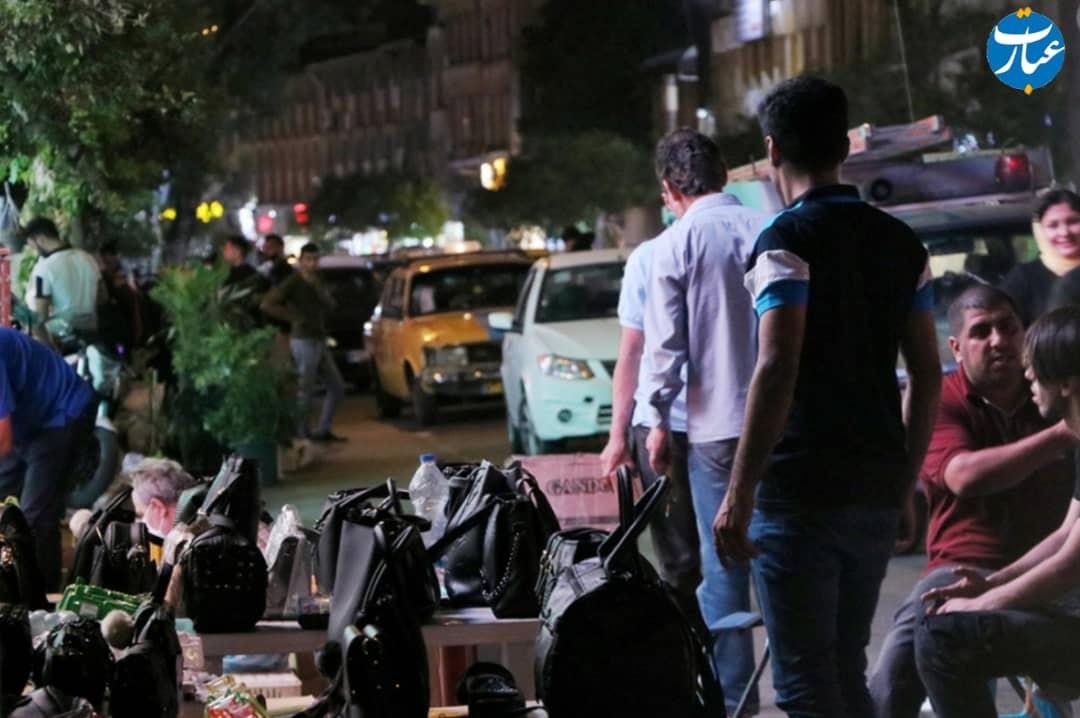 دستفروشی در خیابان قارن ساری+عبارت