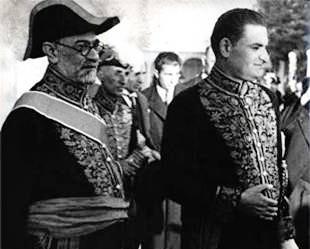 فروغی و سهیلی در روز تاجگذاری شاه جدید+عبارت