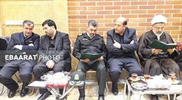 حضور مسئولان ارشد استانی در بیت شهیدان عبوری در پی درگذشت حاج حسن عبوری+عبارت