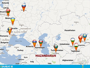ارتباط مازندران و کشورهای CIS