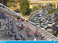 مقایسه ترافیک ساری و تهران -سایت عبارت