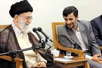 احمدی نژاد و رهبری+عبارت