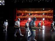 سالن تئاتر + کرونا + عبارت