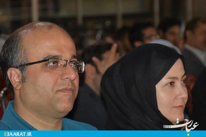 مراسم تجلیل از خبرنگاران به همیت شهرداری در بام شهر ساری-عبارت