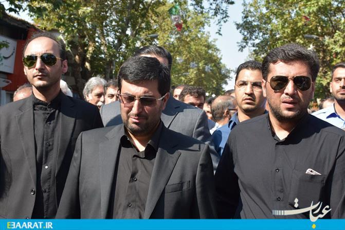 مراسم تشییع پیکر بانو «زینب عبوری» فرزند شهید حجت الله عبوری