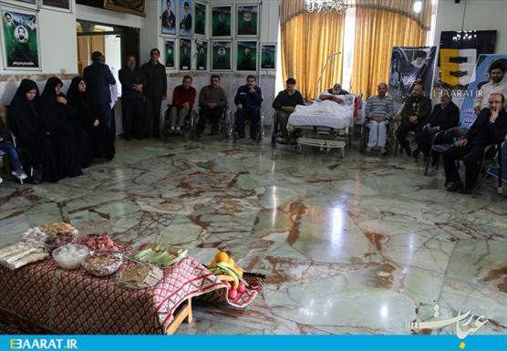 یلدای مدیرکل کتابخانه های مازندران در آسایشگاه جانبازارن ساری