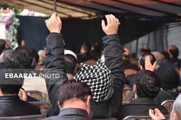 مراسم هفتم پدر شهیدان عبوری در ساری+ عبارت