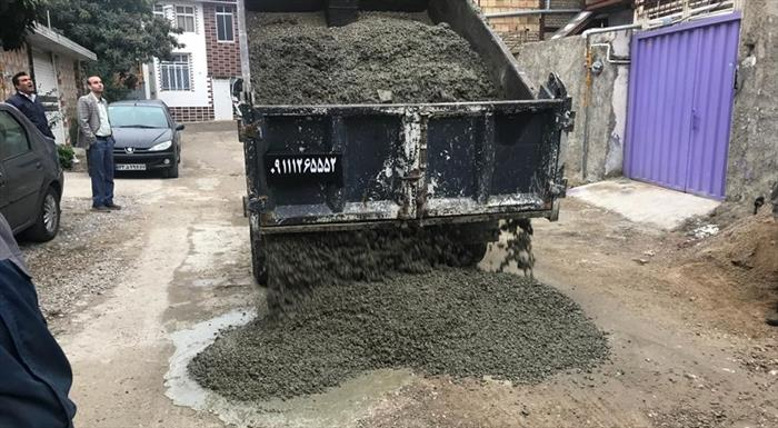 ترمیم آسفالت کوی کشاورزی ساری توسط شهرداری+عبارت