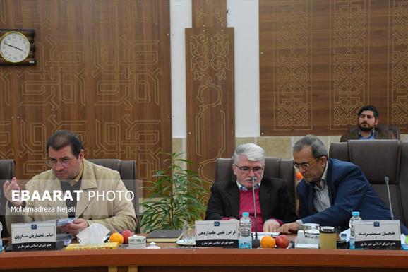جلسه شورای شهر ساری+عبارت