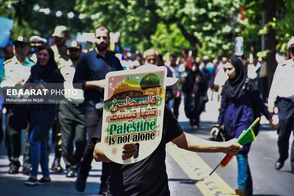 راهپیمایی روز قدس+عبارت