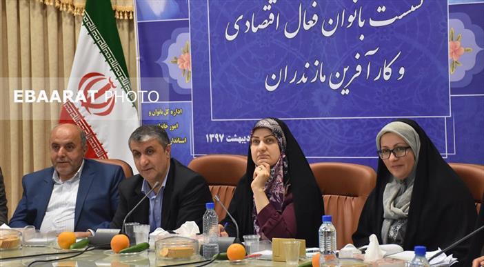 نشست اشتغالزایی زنان در استانداری مازندران+عبارت